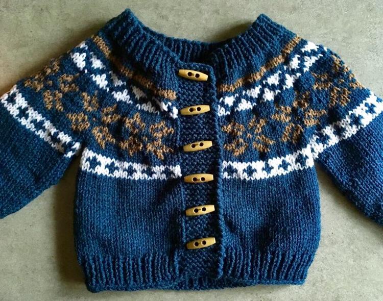 Norwegian Knit Baby Cardigan
