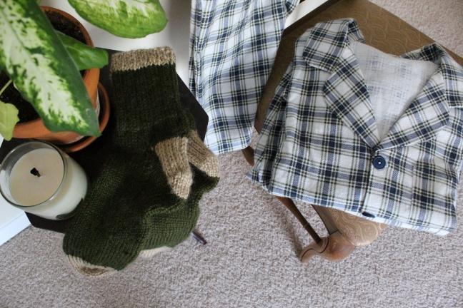 plaid pajama fold