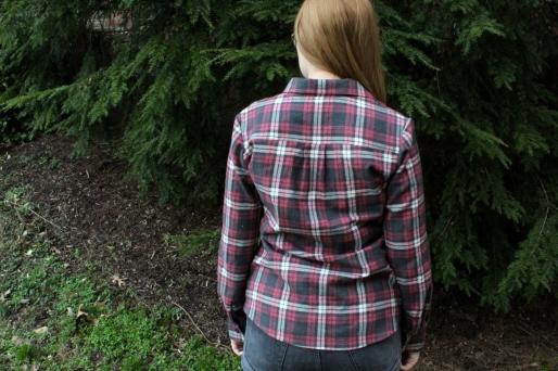 Simplicity 1538 Flannel Button Front Shirt