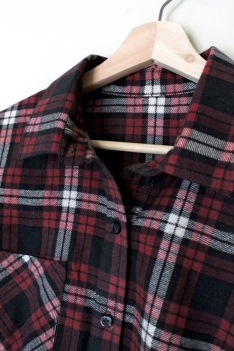Simplicity 1538 Flannel Button Front Shirt