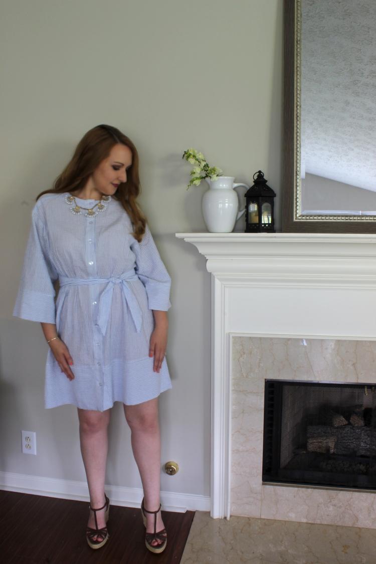 Seersucker Sweetness with McCall's 7889 | Kettle + Cloth
