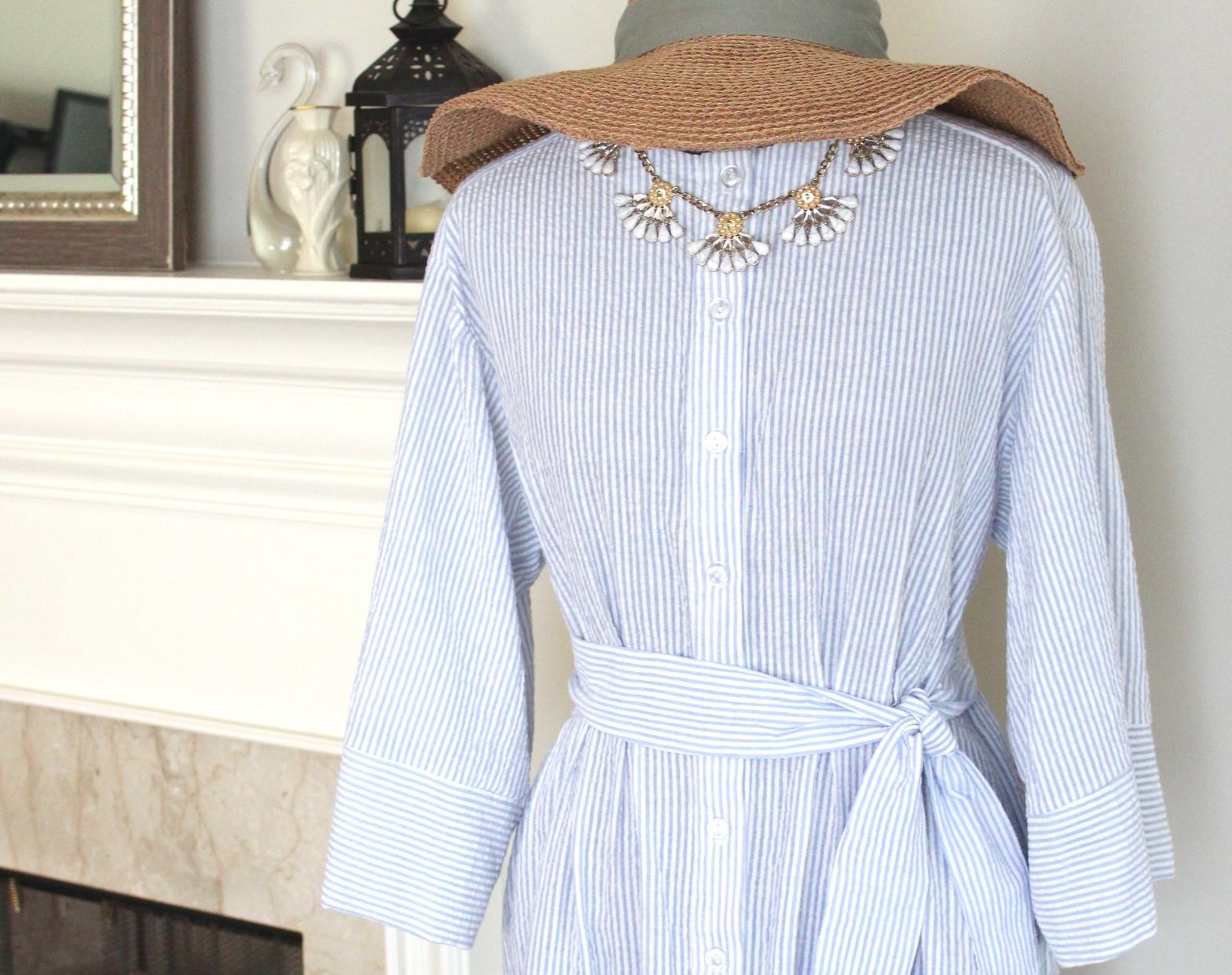 Handmade Seersucker Dress | KettleandCloth.com